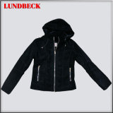 Women Flocking Jacket with Hood