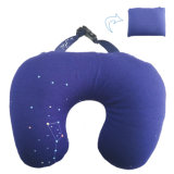 Foldable U Shape Travel Neck Pillow Filled with Polystyrene Beads