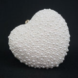 The Most Luxury Lady Hand Hold Heart Shape Evening Bag for Party