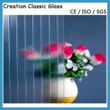 4-8mm Clear Acid Etched Patterns Glass with Ce SGS ISO