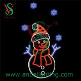2D Snowman Light Christmas Motif Light for Street Decoration