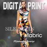 12mm Digital Satin Printing 114cm or 140cm Max Width, 100% Silk