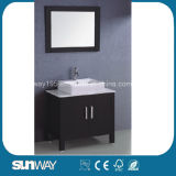 Hot Sale American Style Floor Mounted Solid Wood Bathroom Furniture