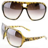 Women Fashion Promotion Acetate Sunglasses with FDA Certification (91027)