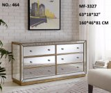 Hot Sell 6 Drawers Antique Silver Night Stand Cabinet