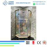 3/8 Decorative Stained Digital Printing Tempered Glass for Shower Door