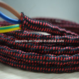 3-Conductor Overbraid Round Electric Wire