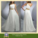 Fashion One Shoulder Beaded Long or Short Grecian Evening Prom Dress (CL06)