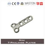 Titanium or Ss Mini T- Phalange Plate