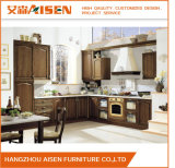 Modular Customize Dark Wood Color Solid Wood Kitchen Cabinet