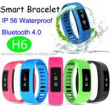 Bluetooth 4.0 Smart Bracelet with IP56 Waterproof (H6)