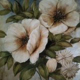 Modern Abstract White Peony Floral Flower Oil Painting on Canvas (LH-179000)