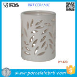 Wholesale Leaf Shape Hollowed-out Ceramic Candle Holder
