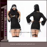 High Quality Woman Adult Sexy Black Nun Dress Costume (10725)
