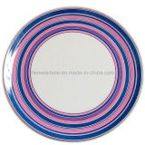 Round Melamine Dinner Plate with Logo (PT7248)