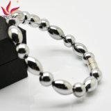 Htb004A Charm Hematite Round Bead Bracelet