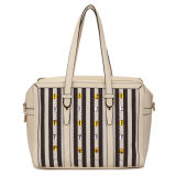 Rhinestone and Stripe Design Woman Fashion Bags (MBNO035054)