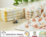 100% Cotton Velour Oil Printed Towel