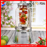 Glass Beverage Jar Glass Juice Jar Beverage Dispenser