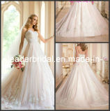 Lace Bridal Ball Gown Layered Tulle Wedding Dress 2016 N130121