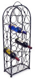 Elegant Looking Freestanding Bordeaux Chateau Style 23-Bottle Storage Wine Rack