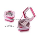 Pink PU Gift Packing Display Storage Jewelry Box Jewellery Case