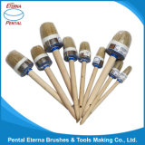 Wholesale Wooden Handle Round Type Paint Brush High Quality