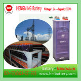 110V Nickel Cadmium Battery/Rechargeable Battery/Ni-CD Battery Kpm300 for Substation