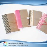 Customized Logo A5 Hard Cover Kraft Paper Diary Notebook (xc-stn-009)