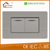 2 Gang 1 Way Rocker Switch with Ce Certificate