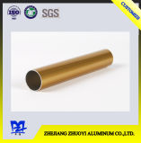 Golden Electrophoresis Aluminum Extrusion Round Pipe