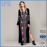 Black Nylon Embroider Women Greg Mullins Dress