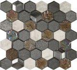 2017 Hexagon Polished Natural Carrara White Mosaic Tile