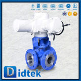 Didtek SS304 PTFE Seat Electric 3-Way Ball Valve with Cable Gland M20X1.5
