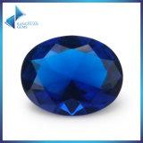 China Fancy Blue Glass Gems Stone Oval Cut Glass Gemstone