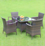 Outdoor Balcony Courtyard Cafe Leisure Three or Five Sets of PE Rattan Tables and Chairs