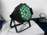 DMX 512 Sound Active18pcsx12W RGBWA 5-in-1 LED PAR Can 64 Night Club Light