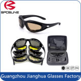Outdoor Eye Protective Dustproof Airsoft Goggles C5 Tactical Sunglasses with Interchangeable Lens