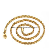 Mother Days′s Gift Gold Plated Stainless Steel Twisted Link Chain