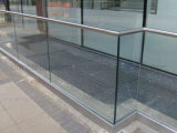Outdoor U Channel Glass Rail/Balustrade