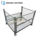 Foldable Storage Rigid Metal Welded Pallet Cage by Galvanized