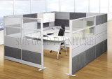 Modern Aluminum Partitions Mixed with Fabric and Glass Cubicle (SZ-WS680)