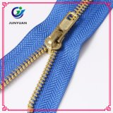 Gold Metal Zipper for Leather Jacket