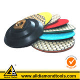 Edge Diamond Polishing Backer Pad Abrasive Tools for Stone Marble Granite