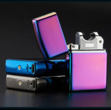 Metal Pulse USB Rechargeable Flameless Electric Arc Cigar Cigarette Lighter