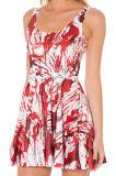 OEM Factory Summer Fashion Sweet Printed Mini Dresses