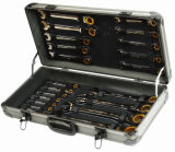 22PCS Professional Stable Gear Wrench Set with Gloden Plated (FY1422A)