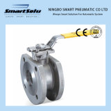 Wafer Flanged End 316 Material 300lbs Manual Operated Ball Valve