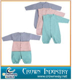 100% Cotton Long Sleeve Jump Baby Romper for Infant