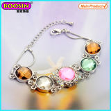 China Metal Silver Stones Charms Link Bracelet